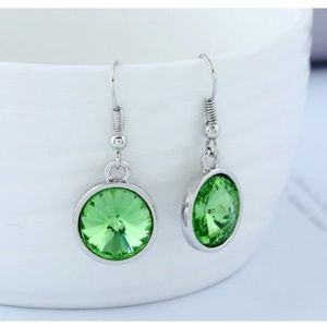 Jewelry - Green Rhinestone Earrings